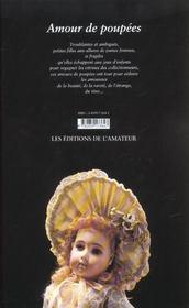Amour de poupees - 4ème de couverture - Format classique