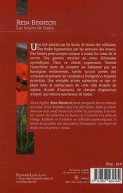 Les Heures De Braise - 4ème de couverture - Format classique