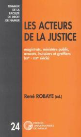 Les acteurs de la justice - Couverture - Format classique