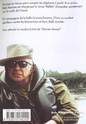 Bob Morane Poche 2003 Le Dernier Massai - 4ème de couverture - Format classique