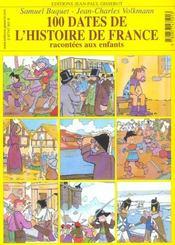 Les 100 Dates De L'Histoire De France - 4ème de couverture - Format classique