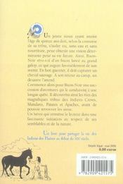 Bison Noir, L'Indien Des Plaines - 4ème de couverture - Format classique