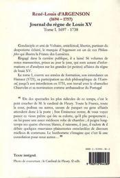 Journal du règne de louis XV t.1 ; (1697-1738) ; le club de l'entresol - 4ème de couverture - Format classique