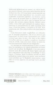La Poesie Arabe Maghrebine D'Expression Populaire - 4ème de couverture - Format classique