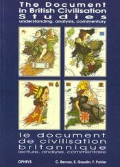 Vente  Le Document De Civilistion Britannique : Lecture, Analyse, Commentaire  - Bernas.Gaudin..