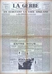 Gerbe (La) N°7 du 22/08/1940 - Couverture - Format classique