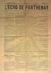 Echo De Parthenay (L') N°50 du 14/12/1879 - Couverture - Format classique