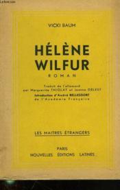Helene Wilfur. Etudiate En Chimie. - Couverture - Format classique