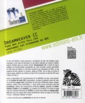 Dreamweaver CC pour PC et Mac ; pour des sites full CSS conformes aux standards du W3C - 4ème de couverture - Format classique