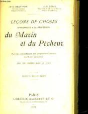 Lecons De Choses Appropriees A La Profession Du Marin Et Du Pecheur - Couverture - Format classique