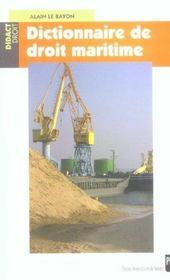 Dictionnaire de droit maritime - Intérieur - Format classique