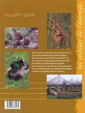 Le Petit Gibier - 4ème de couverture - Format classique