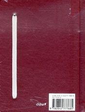 Vins ; carnet de dégustation - 4ème de couverture - Format classique