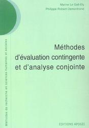 Methodes d'evaluation contingente et d'analyse conjointe - Intérieur - Format classique