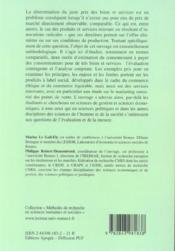 Methodes d'evaluation contingente et d'analyse conjointe - 4ème de couverture - Format classique