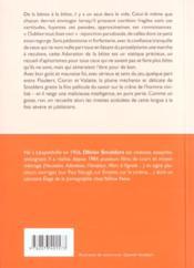 Experience de la betise - 4ème de couverture - Format classique