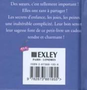 Soeurs! Un Petit Livre Cadeau - 4ème de couverture - Format classique