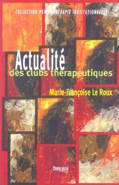 Actualite Des Clubs Therapeutiques - Intérieur - Format classique