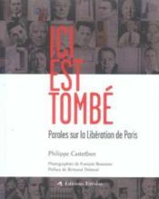 Ici Est Tombe - Couverture - Format classique