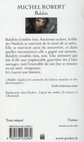 Balafrée - 4ème de couverture - Format classique