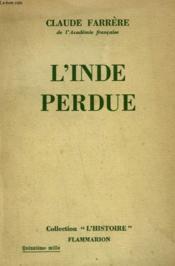 L'Inde Perdue. - Couverture - Format classique