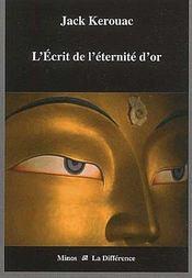 L'Ecrit De L'Eternite D'Or - Couverture - Format classique