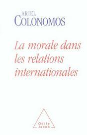 La Morale Dans Les Relations Internationales - Intérieur - Format classique