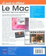 Le mac ; decouvrez tiger et ses apllications - 4ème de couverture - Format classique