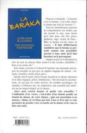 Baraka. Don Sacre De La Chance - 4ème de couverture - Format classique
