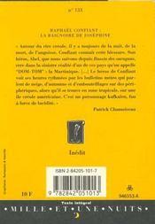 La Baignoire De Josephine - 4ème de couverture - Format classique