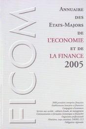 Annuaire Des Etats-Majors Economie Et Fin - Intérieur - Format classique