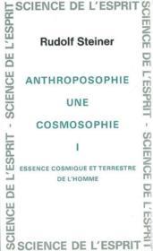Anthro. Cosmosophie T. 1 - Couverture - Format classique