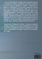 Poétique du cinéma t.2 - 4ème de couverture - Format classique