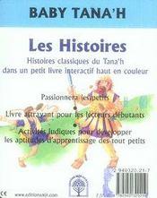 Les Histoires - 4ème de couverture - Format classique