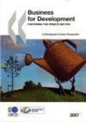 Business for development ; fostering the private sector - Intérieur - Format classique