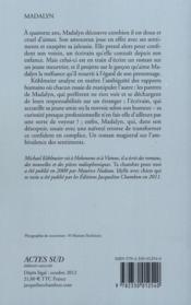 Madalyn - 4ème de couverture - Format classique