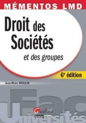 Droit des sociétés et des groupes (6e édition) - Couverture - Format classique