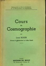 Cours De Cosmographie - Couverture - Format classique