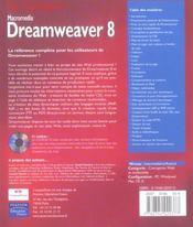 Macromedia dreamweaver 8 le campus - 4ème de couverture - Format classique