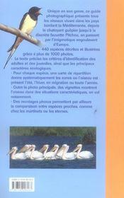 Oiseaux de mediterranee - 4ème de couverture - Format classique