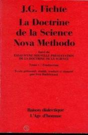 Doctrine De La Science Nova Methodo (La) - Couverture - Format classique