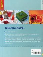 Fantastique feutrine - 4ème de couverture - Format classique