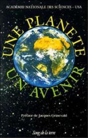 Une planete , unavenir - Couverture - Format classique