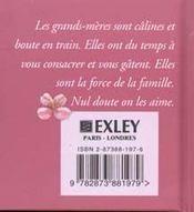 Petit Livre Pour Ma Grand Mere - 4ème de couverture - Format classique