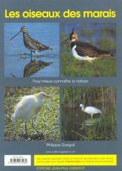 Les Oiseaux Des Marais - 4ème de couverture - Format classique