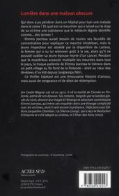 Lumière dans une maison obscure - 4ème de couverture - Format classique