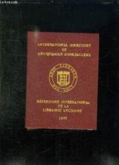 Repertoire International De La Librairie Ancienne. - Couverture - Format classique