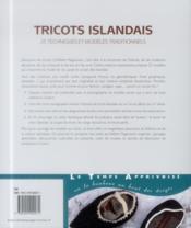 Tricots islandais - 4ème de couverture - Format classique