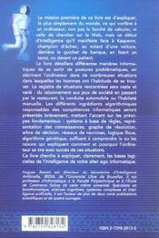 De L'Intelligence Humaine A L'Intelligence Artificielle - 4ème de couverture - Format classique