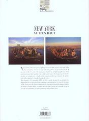 New York Vu D'En Haut - 4ème de couverture - Format classique